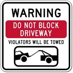 Towing Zone - Blocked Driveway